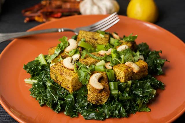 Spicy Stir-Fried Tofu with Kale   happygut.ca