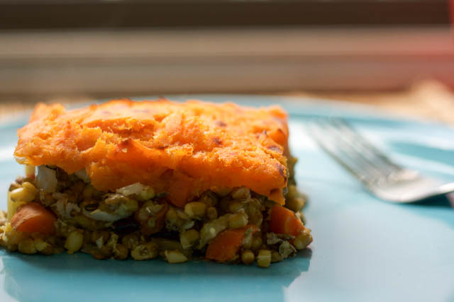 Vegetarian Shepherd's Pie Lentils Sweet Potato
