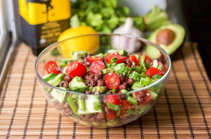 Black Bean Tomato Avocado Salad