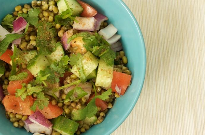 Mung Bean Salad Indian Style
